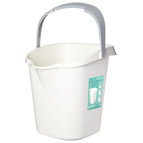 Ведро Sistema 51110 10 л белый/серый