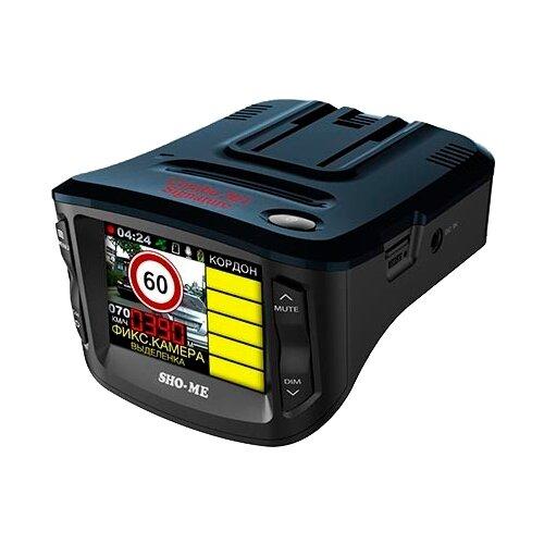 Видеорегистратор с радар-детектором SHO-ME Combo №1 Signature, GPS, ГЛОНАСС черный