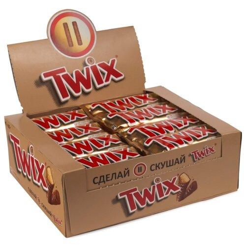 Батончик Twix с песочным печеньем и карамелью, 55 г, коробка (40 шт.)