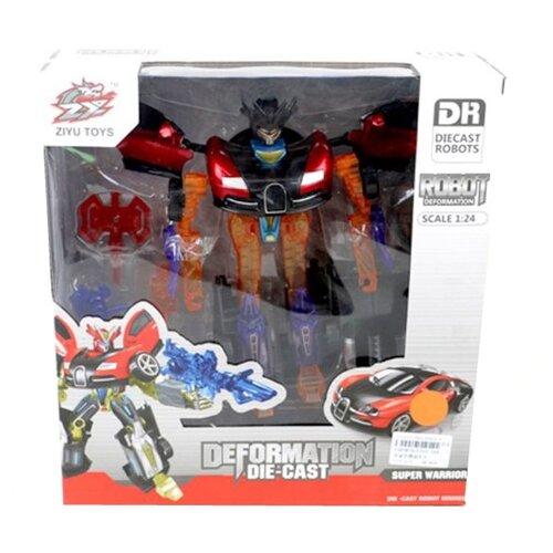 Купить Трансформер Ziyu Toys Машина L015-16A оранжево-черно-красный, Роботы и трансформеры