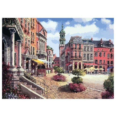 Белоснежка Картина по номерам Шарлеруа. Бельгия 40х50 см (629-AB) белоснежка картина по номерам кутерьма 40х50 см 221 ab