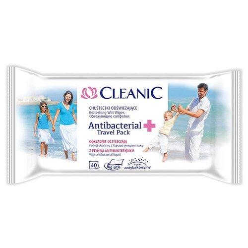 Влажные салфетки Cleanic Antibacterial, 40 шт.