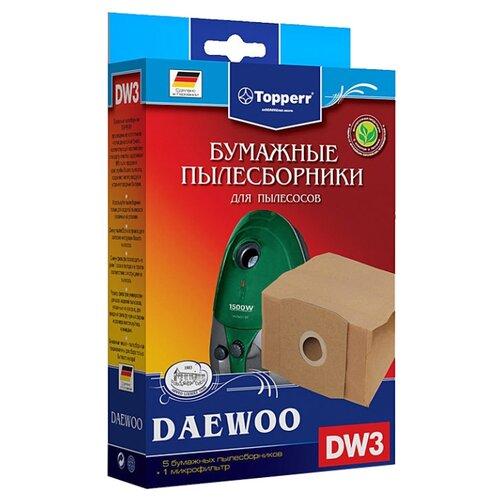 Topperr Бумажные пылесборники DW3 5 шт.Аксессуары для пылесосов<br>