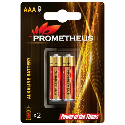 Батарейка Prometheus Energy AAA/LR03 2 шт блистерБатарейки и аккумуляторы<br>