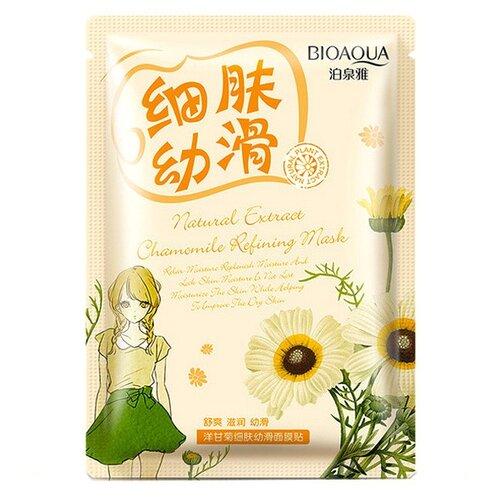 BioAqua Очищающая тканевая маска для лица с экстрактом ромашки Natural Extract, 30 г маска косметическая bioaqua bioaqua маска для лица с экстрактом ромашки 30 гр