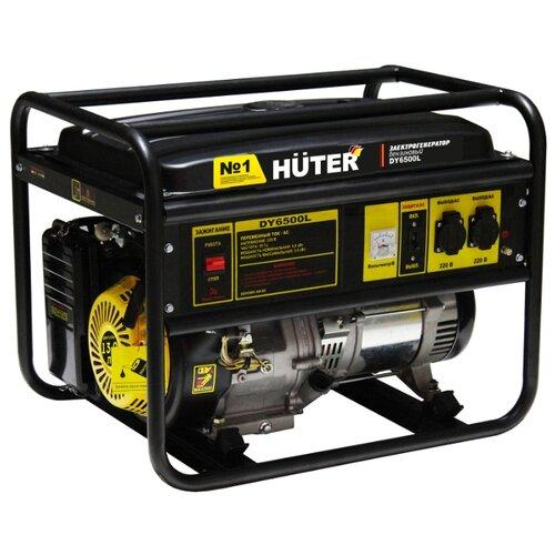 Бензиновый генератор Huter DY6500L (5000 Вт) газо бензиновый генератор huter dy4000lg 3000 вт
