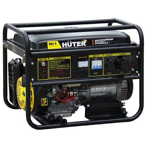 Бензиновый генератор Huter DY9500LX-3 (7500 Вт) бензиновый генератор huter dy9500lx 3