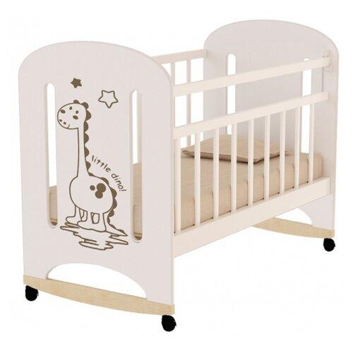 Кроватка Волжская деревообрабатывающая компания Dino (колесо) (качалка), на полозьях слоновая кость