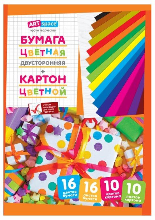 Набор цветного картона и цветной бумаги ArtSpace, A4, 26 л.