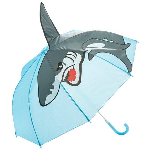 Зонт Mary Poppins голубой/серый