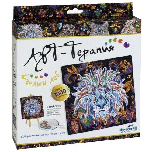 Origami Набор алмазной вышивки Алмазные узоры. Арт-терапия. Белый лев (03217) 20х20 см алмазные узоры cказка звезд 10 15см арт 04731