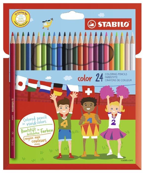STABILO Цветные карандаши color 24 цвета (1924/77-01)