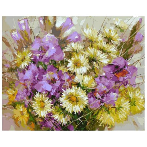 Купить Белоснежка Картина по номерам Букет с гладиолусами 40х50 см (044-AB), Картины по номерам и контурам
