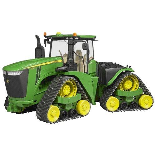Трактор Bruder гусеничный John Deere 9620RX (04-055) 1:16 зеленый трактор bruder john deere 6920