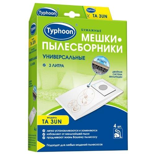 Тайфун Бумажные мешки-пылесборники TA 3UN белый 4 шт.
