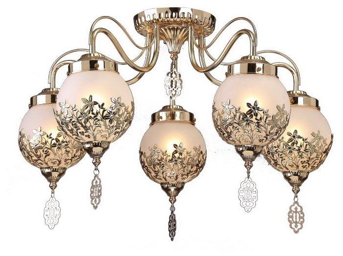 Потолочная люстра Arte Lamp Moroccana A4552PL-5GO