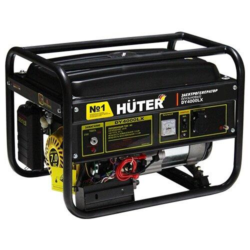 Фото - Бензиновый генератор Huter DY4000LX (3000 Вт) бензиновый генератор huter dy3000lx 2500 вт