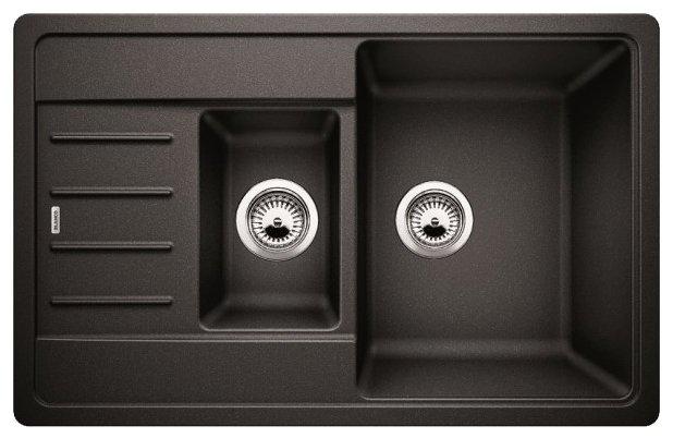 Врезная кухонная мойка 78 см Blanco Legra 6S Compact 521302 антрацит