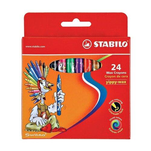 Купить STABILO Восковые мелки Yippy-wax 24 цвета (2824), Пастель и мелки