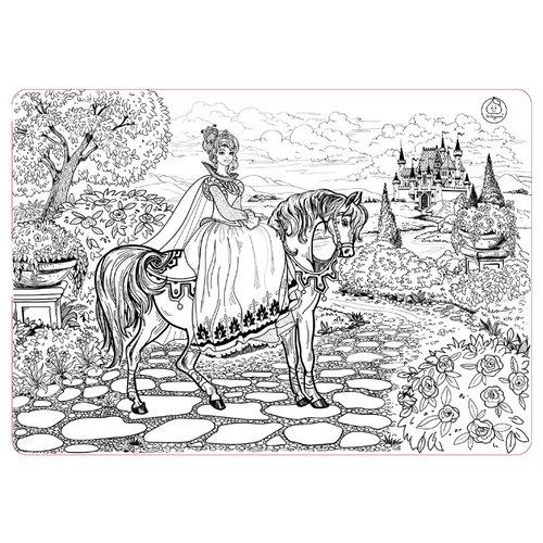 Купить ЯиГрушка Коврик-раскраска Принцесса (большой), Раскраски