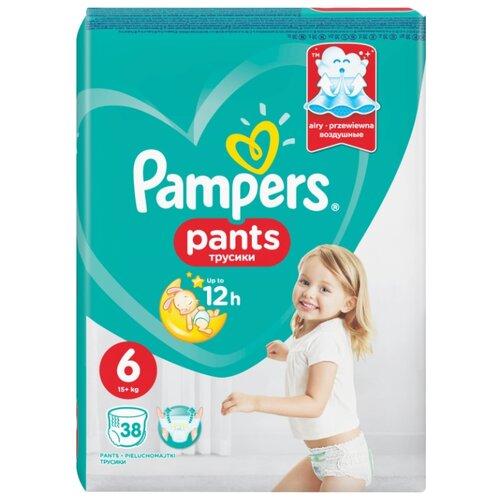 Купить Pampers трусики Pants 6 (15+ кг) 38 шт., Подгузники
