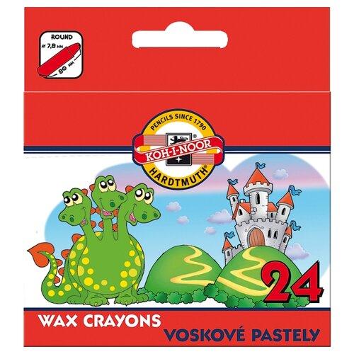 Купить KOH-I-NOOR Восковые мелки 24 цвета (8234/24), Пастель и мелки
