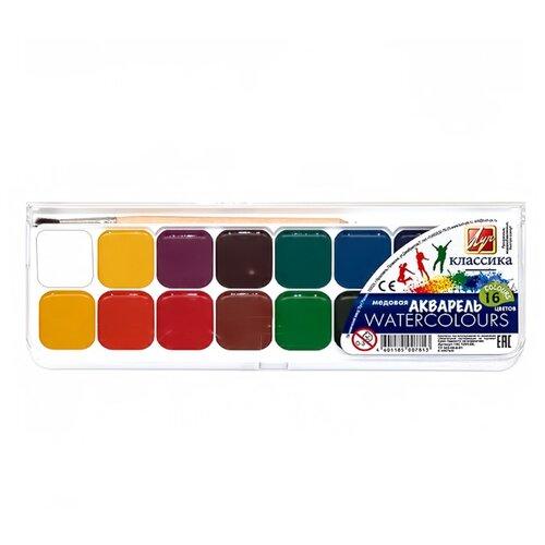 Купить Луч Акварельные краски Классика 16 цветов, с кистью (19С 1291-08), Краски