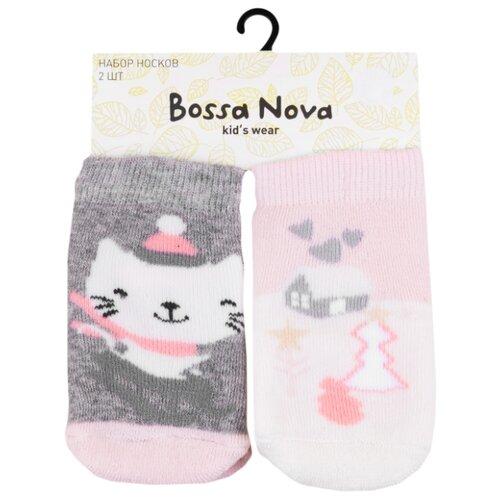 Носки Bossa Nova размер 2я, серый/розовыйНоски<br>