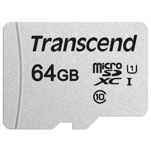 Фото - Карта памяти Transcend microSDXC 300S Class 10 UHS-I U1 64GB + SD adapter (TS64GUSD300S-A) карта памяти mirex sdxc class 10 uhs i u1 64gb