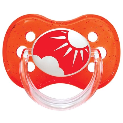 Купить Пустышка силиконовая классическая Canpol Babies Nature 0-6 м (1 шт) красный, Пустышки и аксессуары