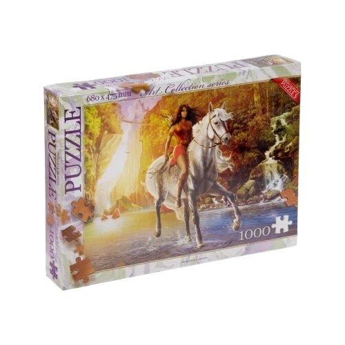 Пазл Danko Toys Девушка на коне (C1000-08-02), 1000 дет. пазл danko toys городская река