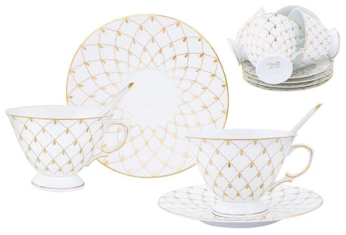 Чайный сервиз Elan gallery Золотая сетка