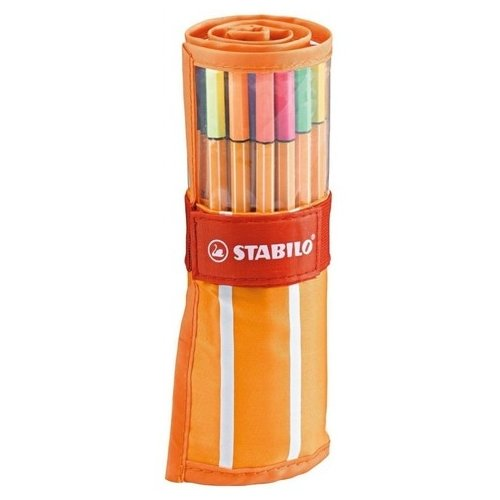 STABILO Набор капиллярных ручек point 88 30 цветов, 0.4 мм в нейлоновом футляре (8830-2)