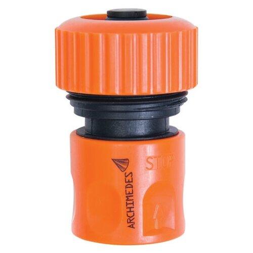 Коннектор с автостопом 19мм (3/4) 90927 Archimedes стандартный коннектор soft 19мм brigadier 84063