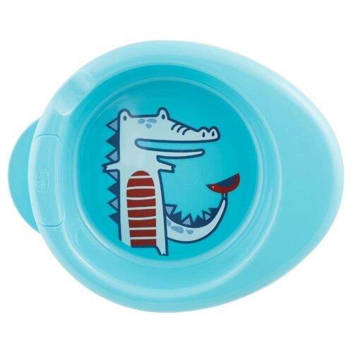 Купить Тарелка Chicco Stay Warm 6 м+ голубой, Посуда
