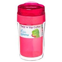 Термокружка Sistema Small Twist'n'Sip Coffee To Go (0,315 л) pink