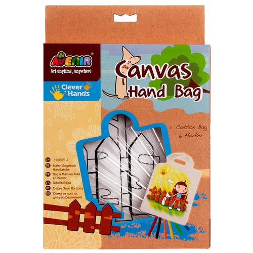 Купить AVENIR Набор для раскрашивания сумки из холста Девочка (AL2005), Роспись предметов