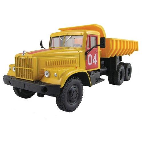 Грузовик Autotime (Autogrand) КРАЗ-256Б аварийная служба (65083) 1:43 20 см желтый/красный грузовик play smart автопарк урал аварийная служба 9464a 25 см оранжевый