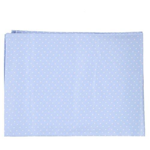 Купить Sonia Kids простыня 110х150 см Горошки голубой, Постельное белье и комплекты