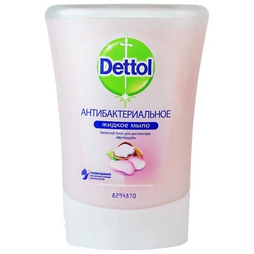 Мыло жидкое Dettol Антибактериальное с ароматом розы и маслом ши 250 мл запасной блокМыло<br>