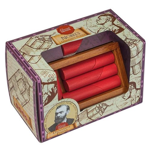 Головоломка Professor Puzzle Great Minds Nobel's Dynamite Puzzle (GM1340) коричневый/красный