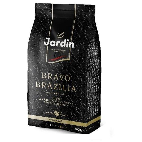 Кофе в зернах Jardin Bravo Brazilia, арабика, 1 кгКофе в зернах<br>