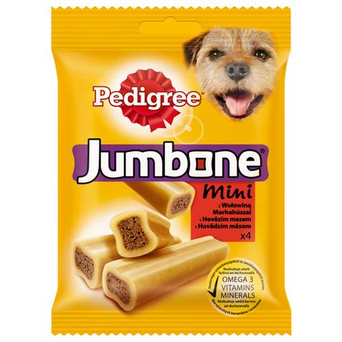 Лакомство для собак Pedigree Jumbone Mini говядина, 4 шт. в уп.