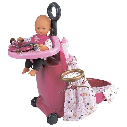 Smoby Набор для кормления и купания пупса в чемодане Baby Nurse (220316) розовый/серыйМебель для кукол<br>