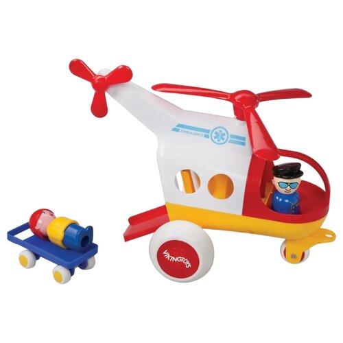 Купить Вертолет Viking Toys Jumbo (1272) 30 см белый/красный/желтый, Машинки и техника