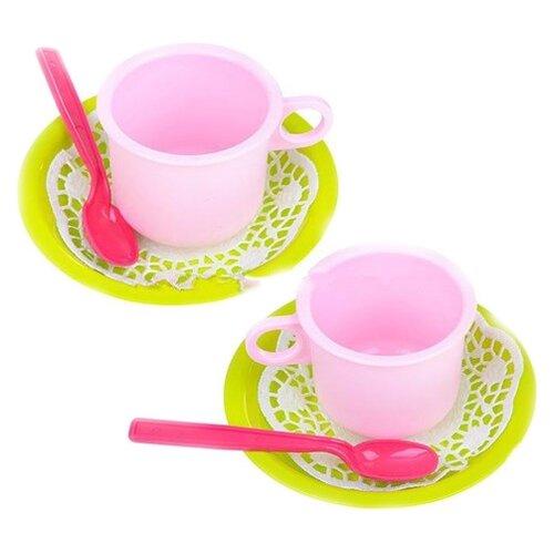 Набор посуды Росигрушка Чайная пара Лайм 9251 красный/зеленый/розовый росигрушка набор игрушечной посуды первый блин