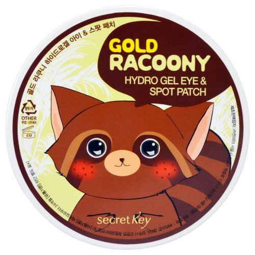 Secret Key Патчи Gold Racoony Hydrogel Eye & Spot Patch (90 шт.) hydrogel eye patch gold mosmake