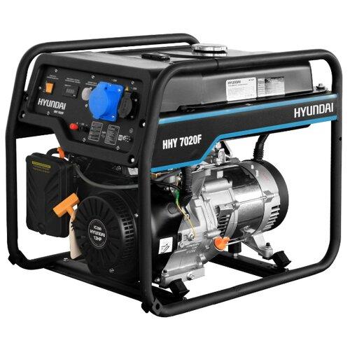 Бензиновый генератор Hyundai HHY 7020F (5000 Вт) бензиновый генератор hyundai hhy 5020fe 230 в 4 5квт