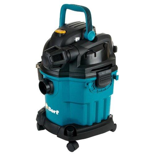 цена на Профессиональный пылесос Bort BSS-1518-Pro 1500 Вт черный/голубой