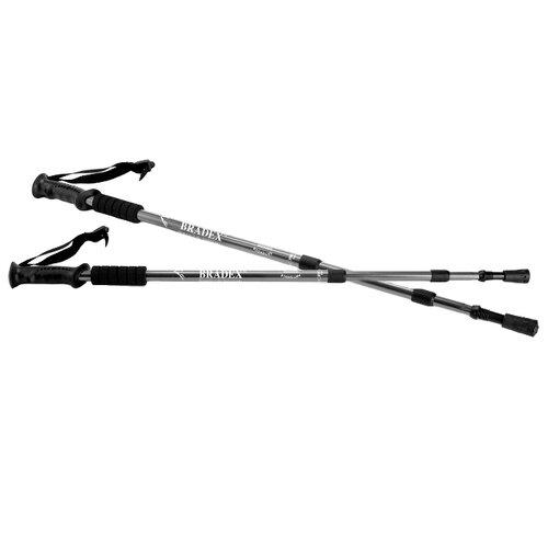Палки для скандинавской ходьбы 2 шт. BRADEX телескопические Нордик Стайл черный